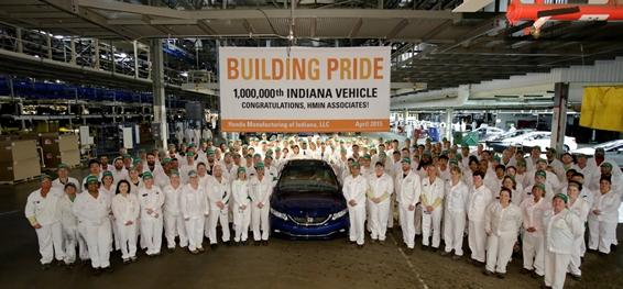 Honda Celebrates 1 Millionth Group Photo