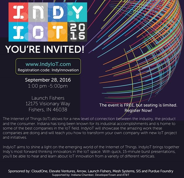 IndyIoT Event Invite